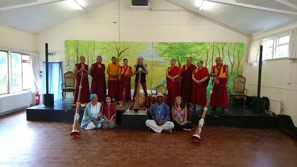 Tashi Lhunpo Monks with Sika and some of the teachers
