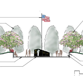 Plaza Cross-Section