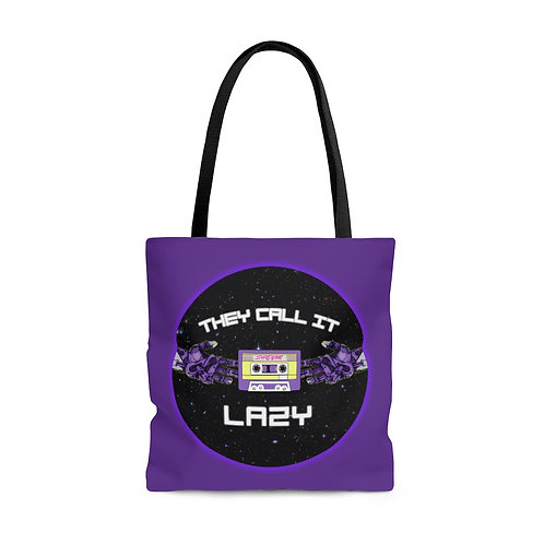 """Purple """"They Call It Lazy"""" Music - Tote Bag"""