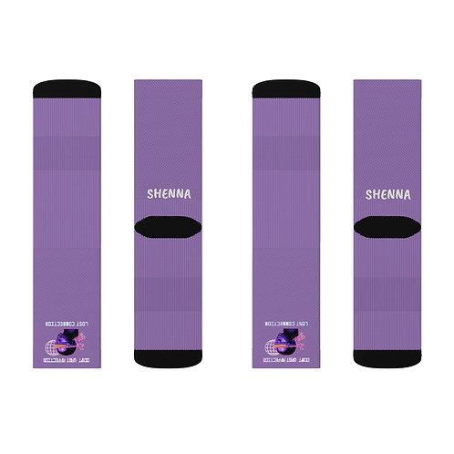 "Purple ""Don't Want Affection"" Socks"