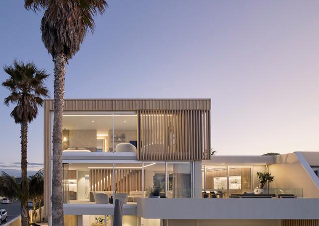 dusk shot exterior calley homes tauranga