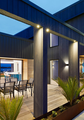 exterior outdoor entertaining design and