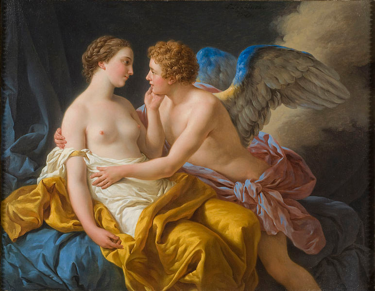IMAGE: Eros and Psyche by Louis-Jean-François Lagrenée, 18th Century