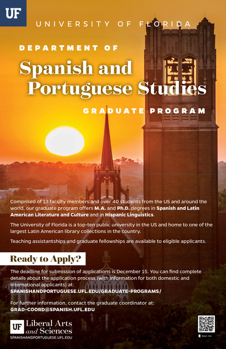 Spanish and Portuguese Studies Graduate Program: Fold-Out Poster (1/2)