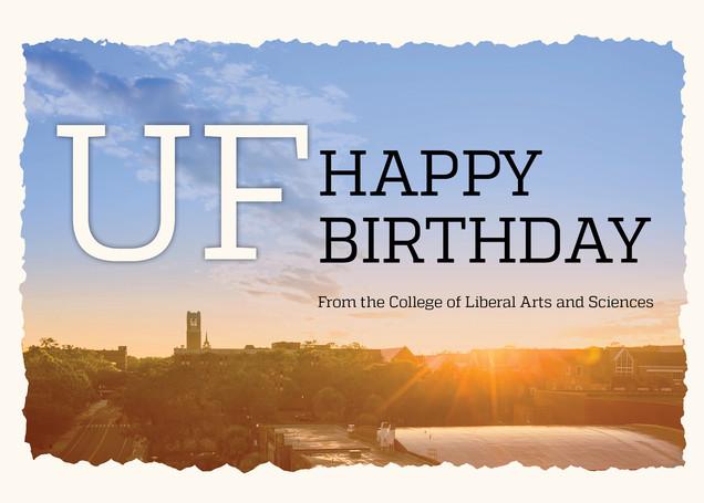 UF Happy Birthday Card (3/4)