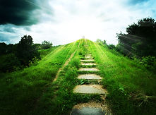 Stairs to heaven. Abstract natural backg