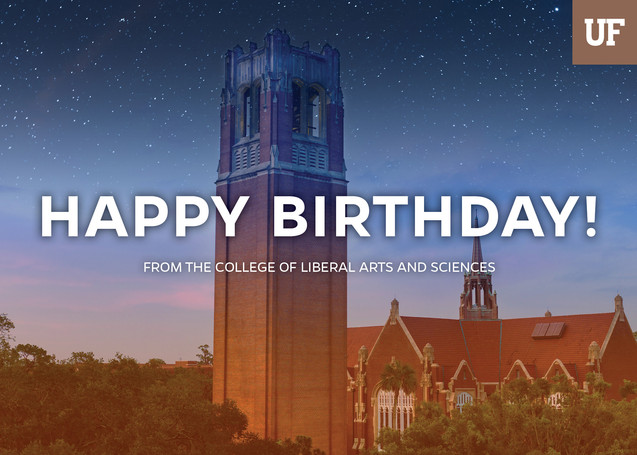 UF Happy Birthday Card (1/4)