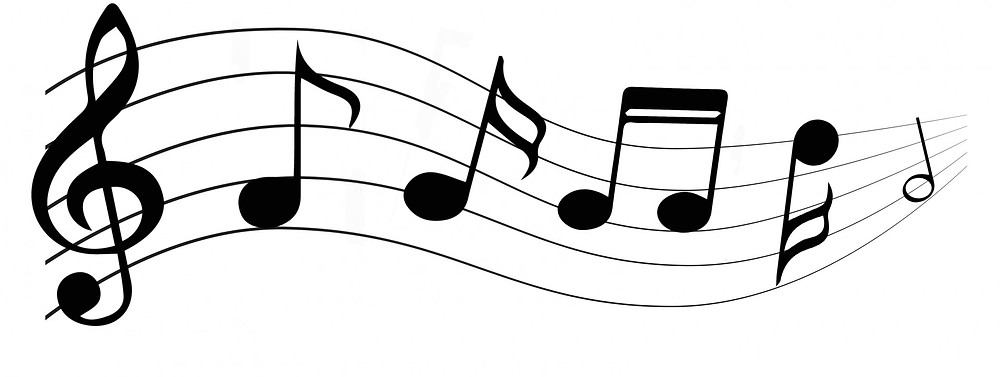 Music notes to represent songs and singing