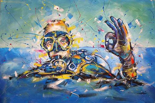 CORTA - Plongeur OK                                   -  Signé à la main