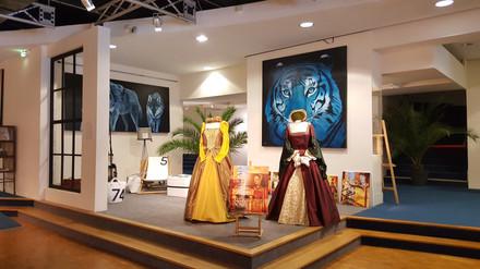 Décoration du hall du défilé de mode de Dinard