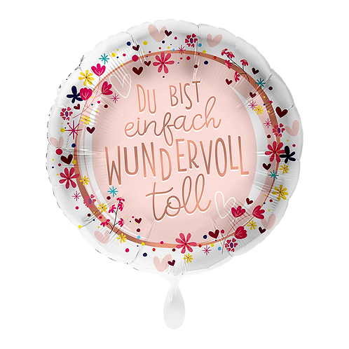 "Folienballon ""Du bist einfach wundervoll"" inkl. Helium"