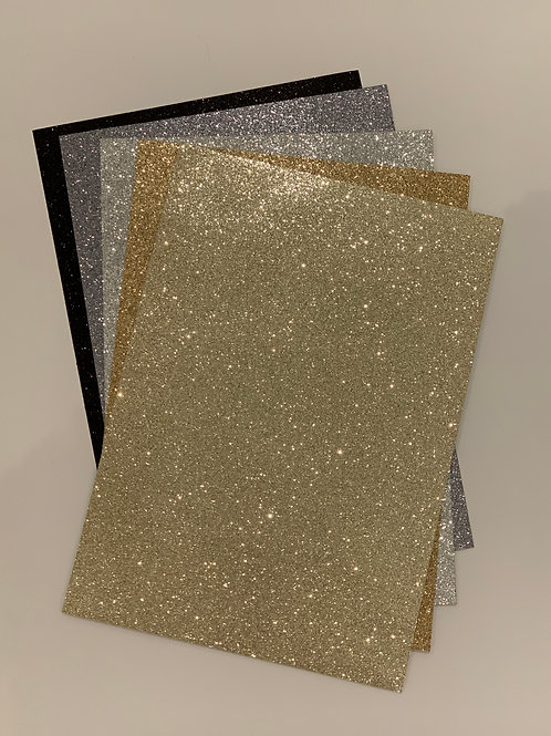 Glitterkarton, A4
