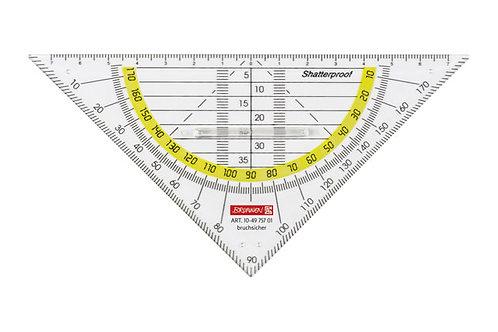 Geometrie-Dreieck mit Griff, bruchsicher, 16 cm