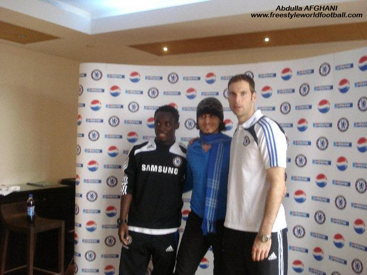 Abdulla Afghani - Mickael ESSIEN and Petr Cech - www.freestyleworldfootball.com
