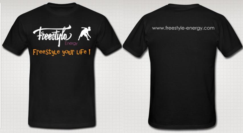 Freestyle Energy - Black T-shirt
