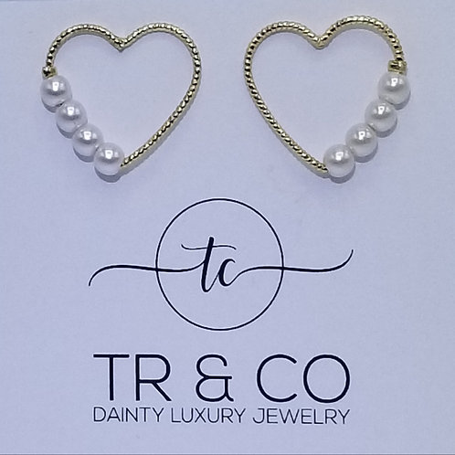 Heart with Pearls