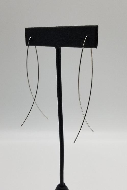 Oval Threader Earring