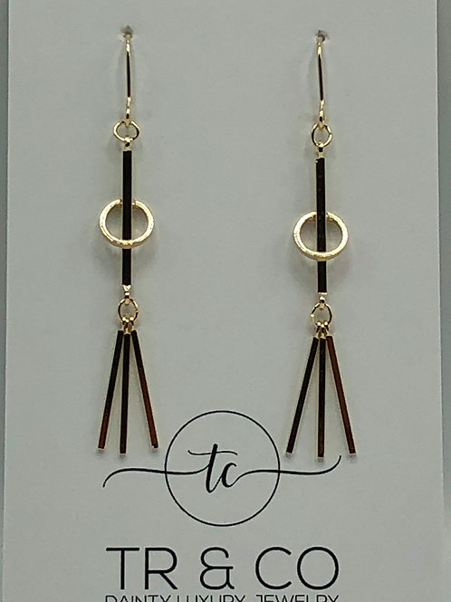 Gold Stick Earring