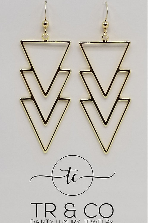 Gold Tribal Earring