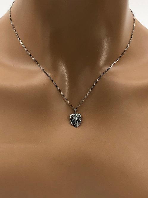 Dainty Monstera Leaf Necklace