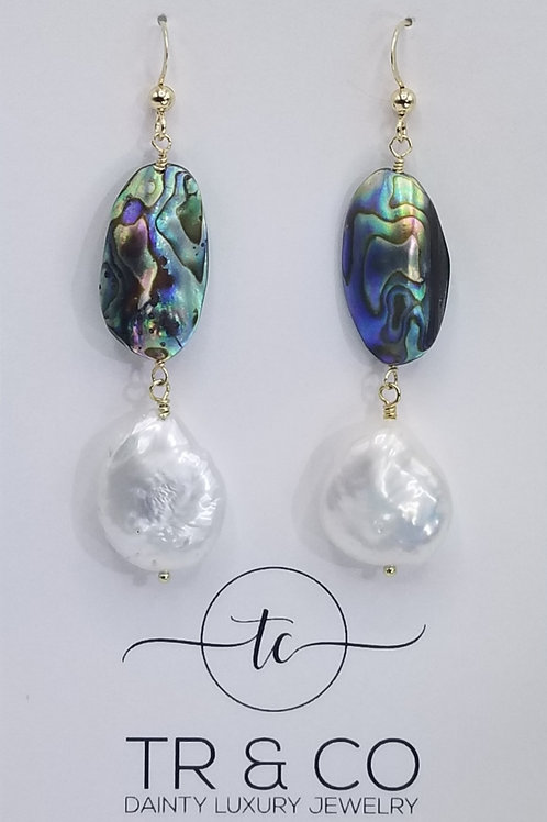 Abalone Shell with Baroque Pearls