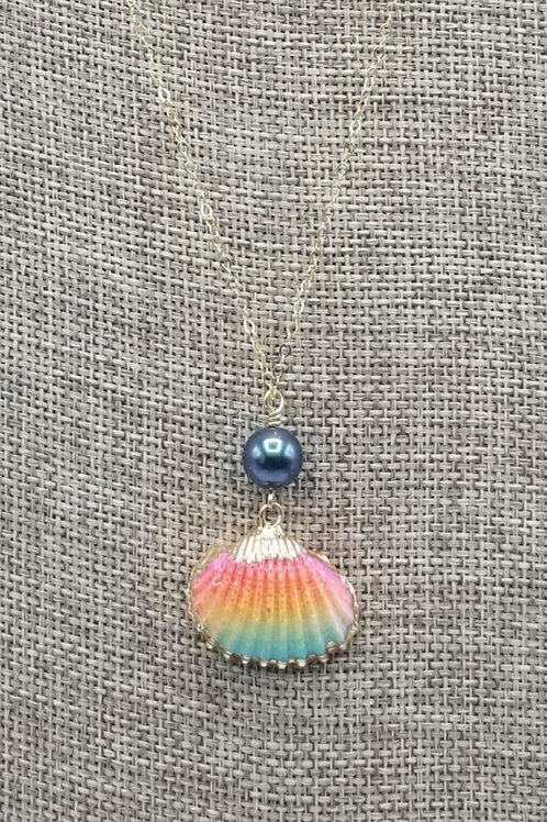Swarovski Pearl with Rainbow Shell