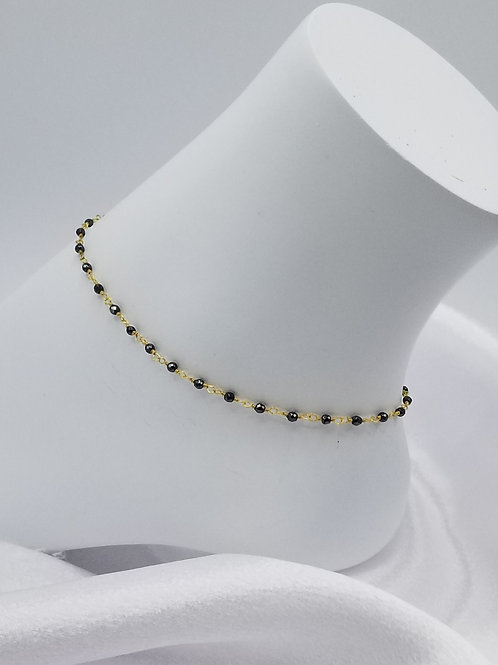 Grey Pyrite Anklet