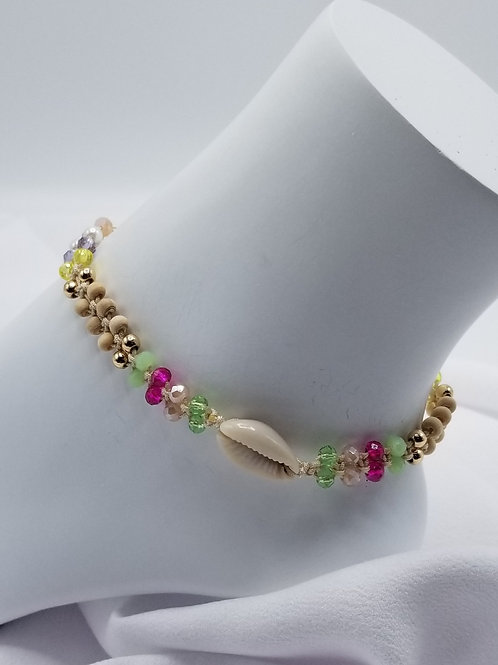 Cowry Shell Beaded Anklet