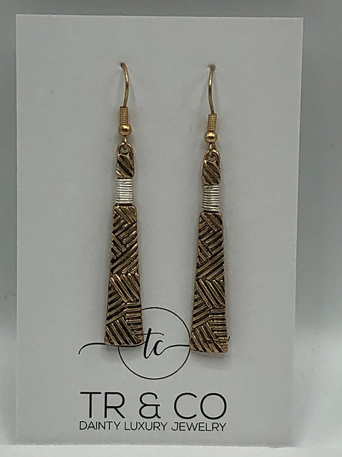 Brass Tribal Design Earring