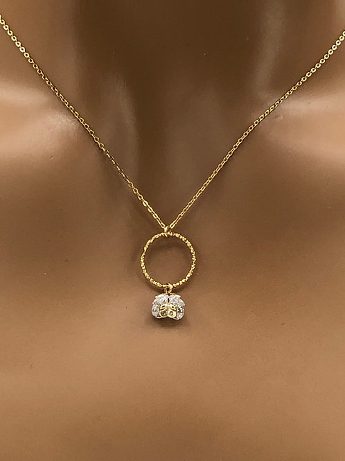 CZ flower Necklace