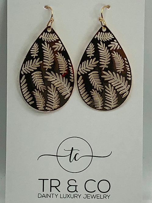 Lazer Fern Earring