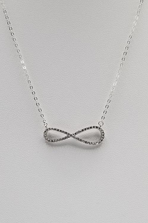 Cz Infiniti Pendant Necklace
