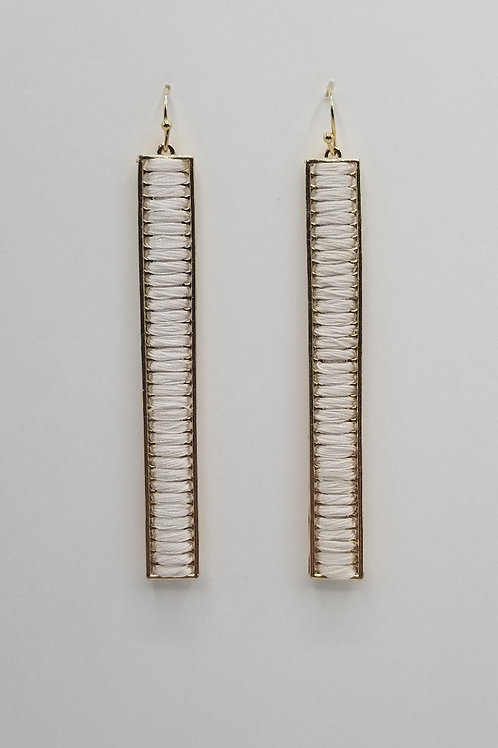 White Thread Earring