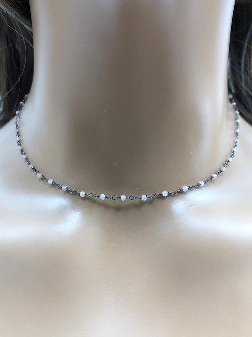 Rose Quartz 2mm Beaded Necklace