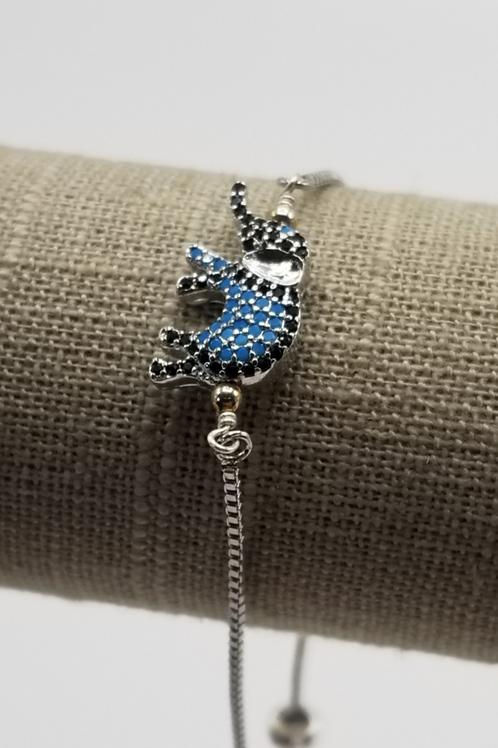 Silver Adjustable CZ Bracelet