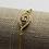 Thumbnail: Gold Adjustable CZ Bracelet