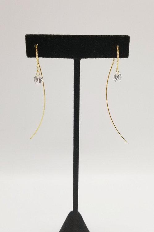 Threader CZ Drop Earring