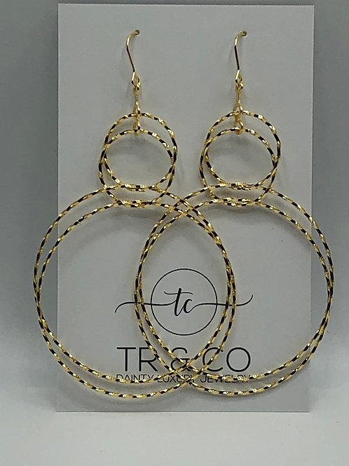 Gold Double Hoops