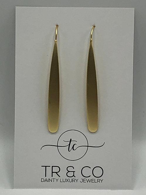 Matte Gold Threader Earring