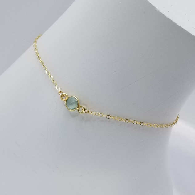 Chalcedony Anklet