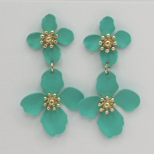 Teal Colored Dangling Flower