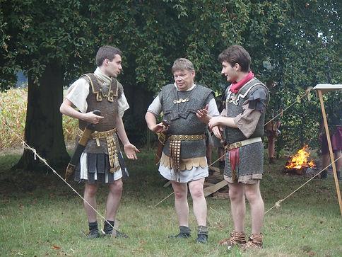 Légionnaire romains en cotte de maille (lorica hamata)