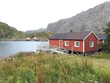 Rorbuer à Nusfjord, îles Lofoten