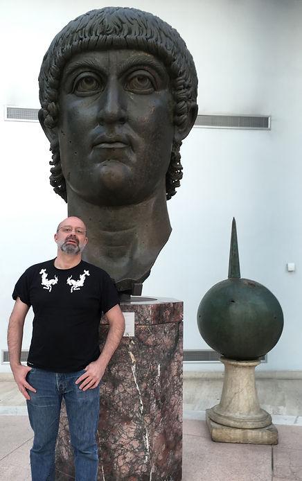 L'empereur romain Constantin, musée du Capitole, Rome
