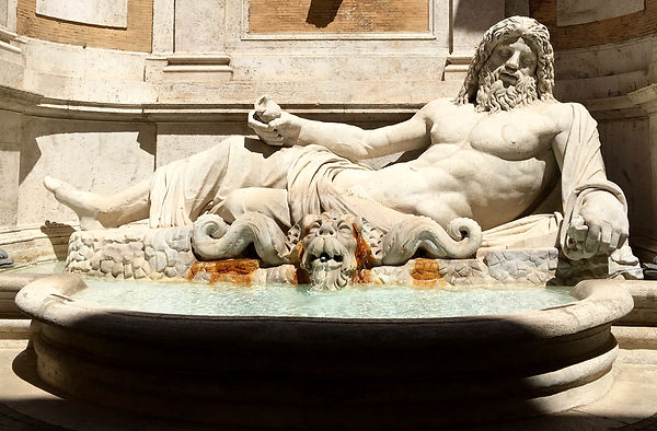 Jupiter - la fontaine de Marforio à Rome (1er siècle ap. JC)