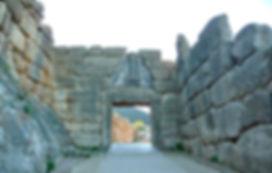 porte aux lionnes, Mycènes, cité d'Agamemnon