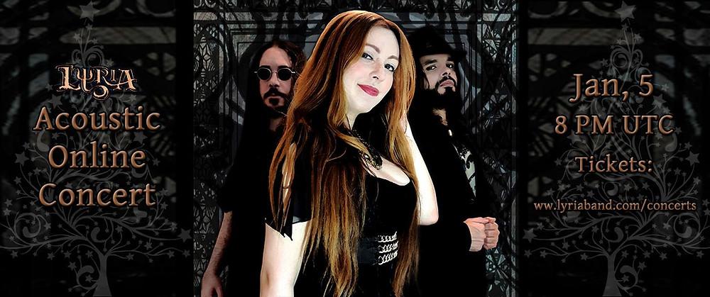 Lyria Acoustic online concert flyer of Jan 2018