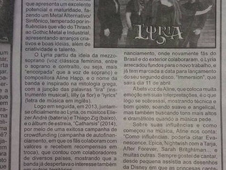 Lyria on A Notícia Newspaper