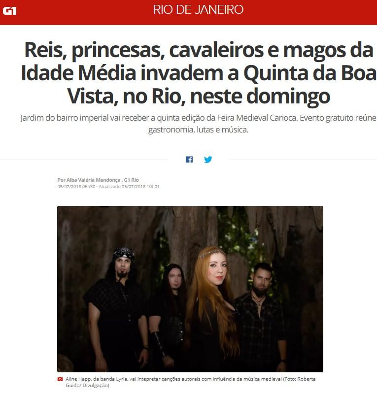 Lyria banda de metal sinfônico no G1 Globo