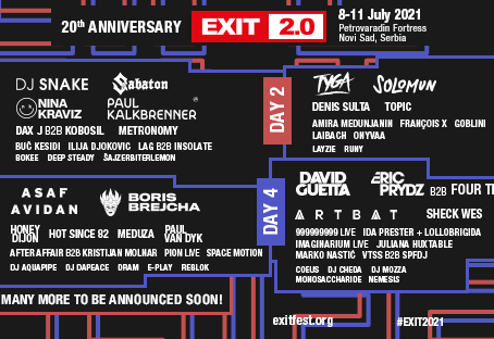 EXIT 2.0 — Line-up for 20th Birthday and Return to Magical Venue